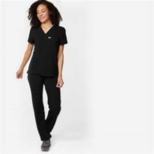 Figs Livingston Scrub Bottoms in Black